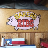 Photo taken at Baker's Ribs by Melissa P. on 4/1/2016