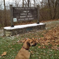 Photo taken at Harold Hall Quarry Beach by Ann F. on 11/26/2013