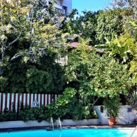 Photo taken at Chateau Marmont Pool by Hannah C. on 3/20/2013