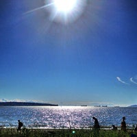 Photo taken at English Bay Beach by Anders F. on 6/3/2013