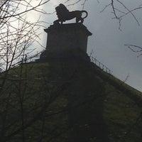 Photo taken at Butte du Lion de Waterloo by Laura V. on 4/15/2013