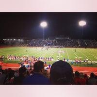 Photo taken at Bob Shelton Stadium by Bridget G. on 9/27/2014