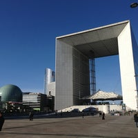 Photo taken at Grande Arche de la Défense by Sylvain on 1/28/2013
