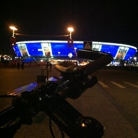 Photo taken at Donbass Arena / Донбасс Арена by Irina K. on 4/14/2013