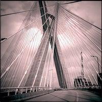 Photo taken at Ponte Octávio Frias de Oliveira (Ponte Estaiada) by Henrique L. on 1/23/2013