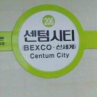 Photo taken at Centum City Stn. by Milkyway별냥공주♥ on 10/11/2016