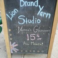 Photo taken at Lion Brand Yarn Studio by Arabia T. on 5/14/2013