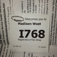 Photo taken at Wisconsin Division of Motor Vehicles (DMV) by Meredith C. on 12/28/2012