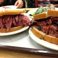 Photo taken at Katz's Delicatessen by Clark P. on 4/14/2013