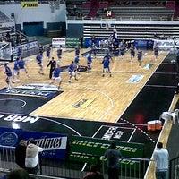 Photo taken at Estadio Polideportivo Islas Malvinas by Lujan H. on 4/1/2013