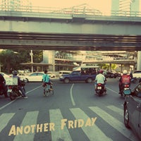 Photo taken at Sala Daeng Intersection by BHUBEST T. on 11/1/2013