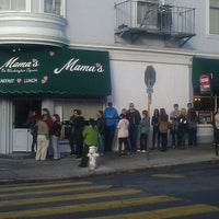 Photo taken at Mama's on Washington Square by Andy H. on 10/24/2012