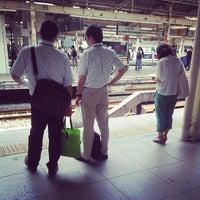 Photo taken at JR 横浜駅 3-4番線ホーム by Nagase Y. on 6/9/2013