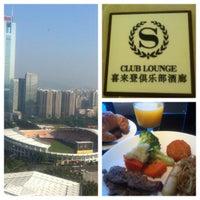 Photo taken at Sheraton Guangzhou Hotel 广州喜来登酒店 by Tony W. on 11/19/2012