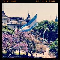 Photo taken at Plaza Libertador General San Martín by Gonzo R. on 11/6/2012