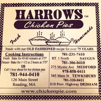Photo taken at Harrows Chicken Pies by Louis H. on 4/3/2014