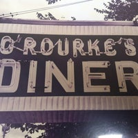 Photo taken at O'Rourke's Diner by Kate S. on 5/18/2013