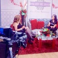 Photo taken at Ocho TV by Erika B. on 3/7/2015