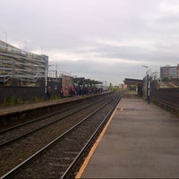 Photo taken at Salford Central Railway Station (SFD) by Matthew B. on 7/6/2015