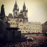 Photo taken at Old Town Square by Katerina T. on 5/14/2013