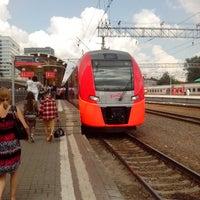 Photo taken at Kursky Rail Terminal by Evgeniy P. on 7/8/2013