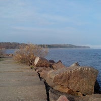 Photo taken at Пляж Черная Речка by Сергей Х. on 5/10/2013