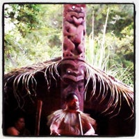 Photo taken at Mitai Maori Village by Patrick L. on 12/1/2013