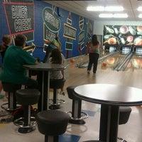 Photo taken at Buffaloe Lanes Erwin Bowling Center by Katlyn M. on 4/21/2013