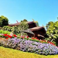 Photo taken at Doi Tung Royal Villa by Pacharapun T. on 1/20/2013
