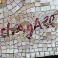 """Photo taken at Chagall Mosaic, """"The Four Seasons"""" by K. K. on 4/9/2013"""