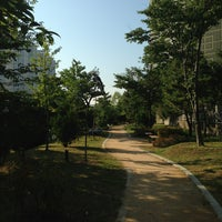 Photo taken at 수영강변 산책로 by Seunghoo L. on 8/27/2013