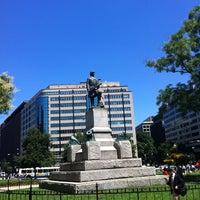 Photo taken at Farragut Square by Viktor V. on 7/29/2013