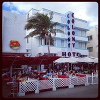 Photo taken at Colony Hotel by Kay Jake Ferner on 1/4/2013