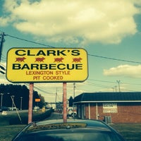 Photo taken at Clark's BBQ by Carolina Couger on 10/25/2013