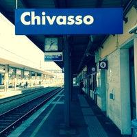 Photo taken at Stazione Chivasso by Daniel V. on 10/17/2013