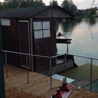 Photo taken at Ozolnieku Wakeboard by Gunita M. on 7/5/2014