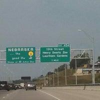 Photo taken at Iowa / Nebraska State Line by Julie G. on 8/11/2013