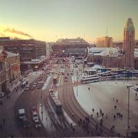 Photo taken at Rautatientori by Kimmo R. on 1/22/2013