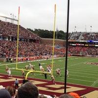 Photo taken at Alumni Stadium by Eva T. on 9/29/2012