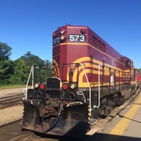 Photo taken at Conway Scenic Railroad by Olivia S. on 9/20/2015