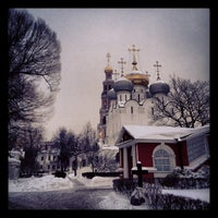 Photo taken at Novodevichy Convent by Ru G. on 1/21/2013