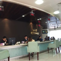 Photo taken at Etihad airways Madinat Zayed Ticketing by Olivera on 4/15/2014