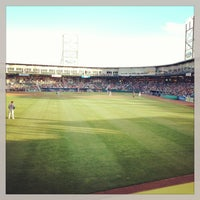 Photo taken at Northeast Delta Dental Stadium by Paola M. on 6/16/2013
