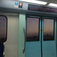 Photo taken at Emirates Metro Station محطة مترو طيران الإمارات by Janry Nicolas A. on 5/31/2016