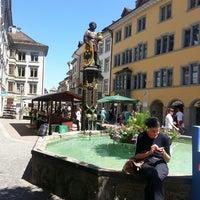 Photo taken at Fronwagplatz by Zhanna U. on 6/14/2013