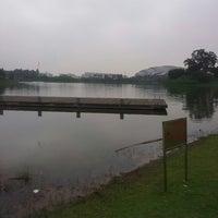 Photo taken at 广州大学城中心湖 by Juan Pablo R. on 5/1/2014