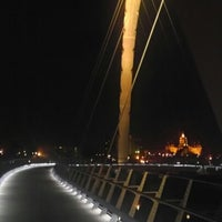 Photo taken at Pedestrian Bridge by David T. on 10/22/2012