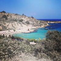 Photo taken at Konnos Beach by Azat S. on 9/2/2014