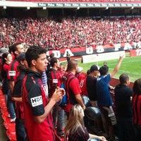 Photo taken at Arena da Baixada by Bruno C. on 12/4/2011