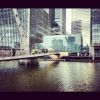 Photo taken at Canary Wharf by Elena A. on 5/18/2012